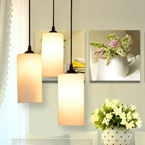 Glass Cylindrical Ceiling Light Shade Cover Pendant Lampshade Fixture