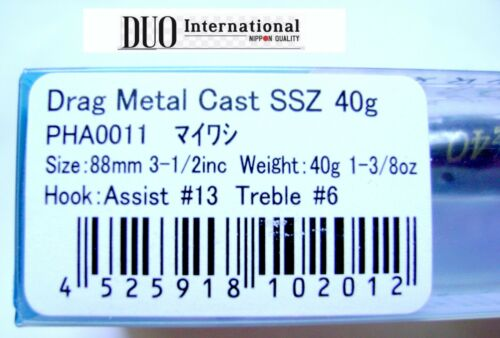 DUO DRAG METAL CAST SSZ 40gr.1-3//8oz Shore Jigging,JIG,Saltwater Fishing Lure