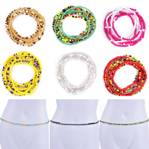 Bohemian Colorful Double Row Beads Body Chains Belly Waist Beach Chains JeweWCP