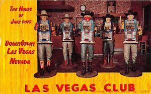 LAS-VEGAS-NV-1954-Cowboy-One-Arm-Bandits-The-Las-Vegas-Club-18-Fremont-St-GEM