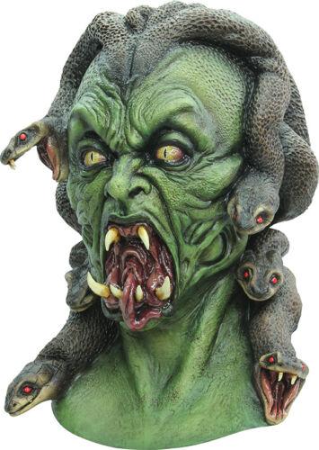 MEDUSA Serpente dai capelli mostro in Lattice Horror Halloween Maschera della testa e collo