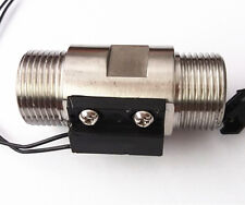 "Magnetic SUS 304 Stainless Steel Water Flow Switch Sensor thread 3/4"" New"