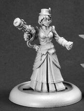 Mad Scientist Female Savage Worlds Reaper Miniatures Steampunk Western Ranged
