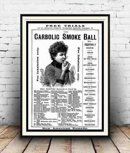 poster Reproduction. Carbolic smoke ball : Vintage magazine advert Wall art