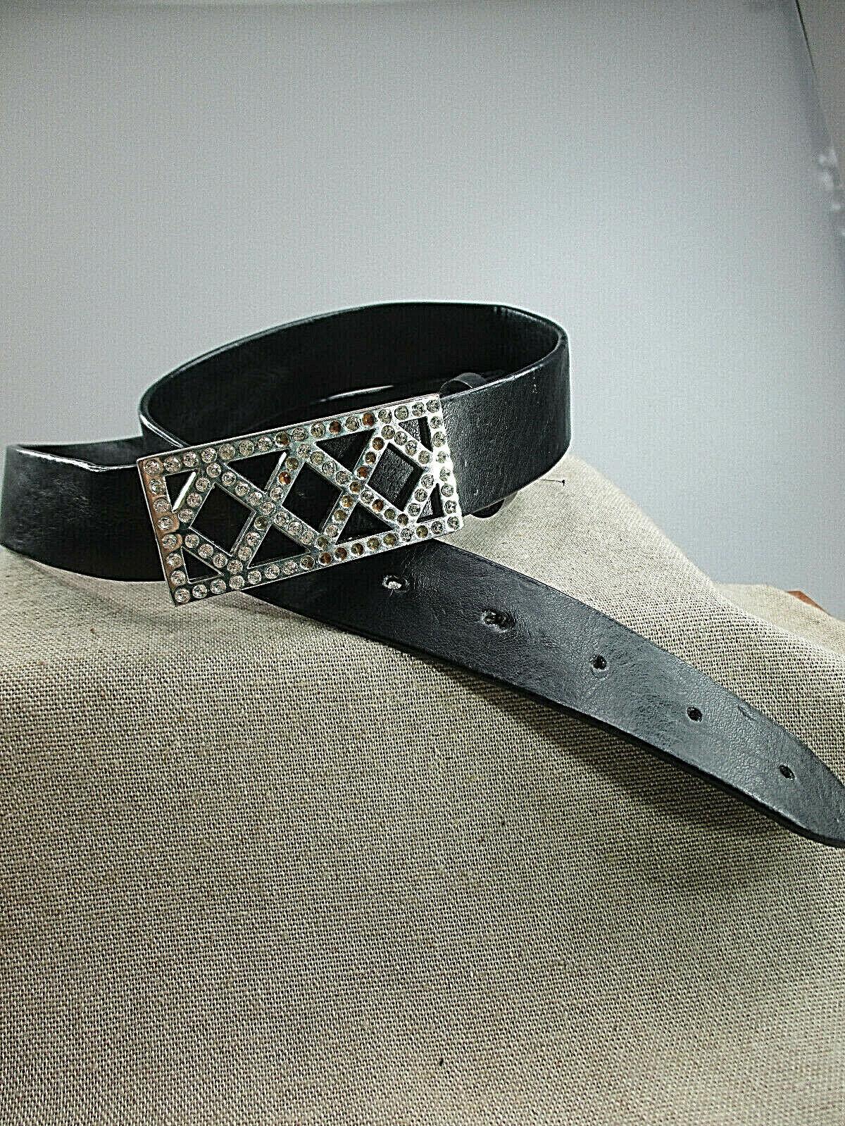 Special Sale Women's Belt Leather Belt Rhinestone - Lock New Unisex