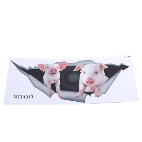 Toilet Stickers Pig Piglet Animal Smashed Decal 3D Hole Room Creative 8C
