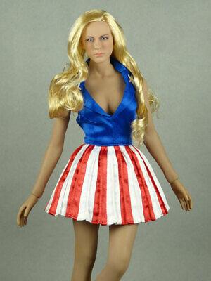 SMcG Female USO Red /& Blue Stripes Dancer Dress 1//6 Scale Phicen TBLeague