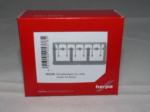24 unid nuevo embalaje original Herpa 053785 accesorios camiones einzelfanfaren