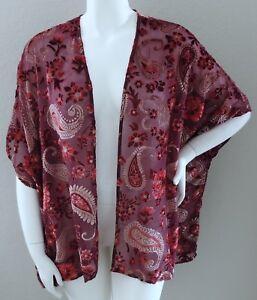 03e51bd45de Image is loading Umgee-USA-Velvet-Burnout-Floral-Paisley-Kimono-Jacket-