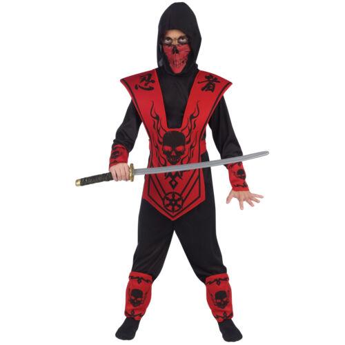 Fun World Red Black Skull Lord Ninja Boys Halloween Costume110092