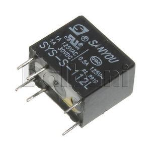 SYS-S-112L-New-Sanyou-Sealed-type-1-pole-12V-L-Relay-1A-125VAC-1A-30VDC