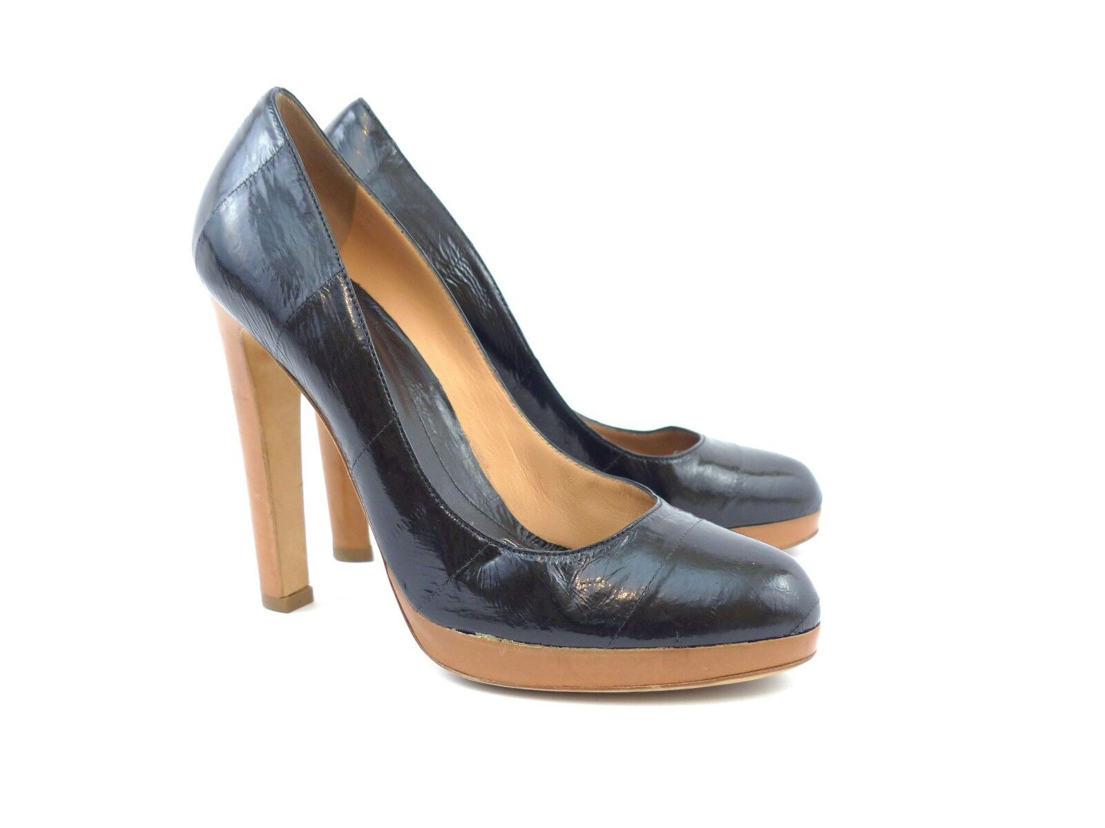 Descuento de liquidación Sergio Rossi Adriana Black Varnished Leather [ 63% OFF  ]