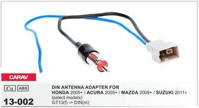 SUZUKI acura CARAV 12-012 AUTORRADIO ISO Cable adaptador para honda