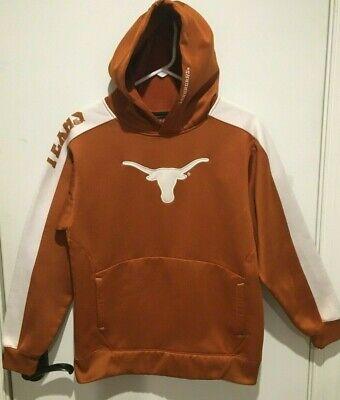 Texas Longhorns Geniune Stuff Orange Hoodie Jacket Boys Youth Size 10 12 NWT