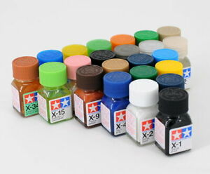 Tamiya-Color-Enamel-Paint-Gloss-80001-80034-X-1-to-X-34-10ml-For-Model-Kit