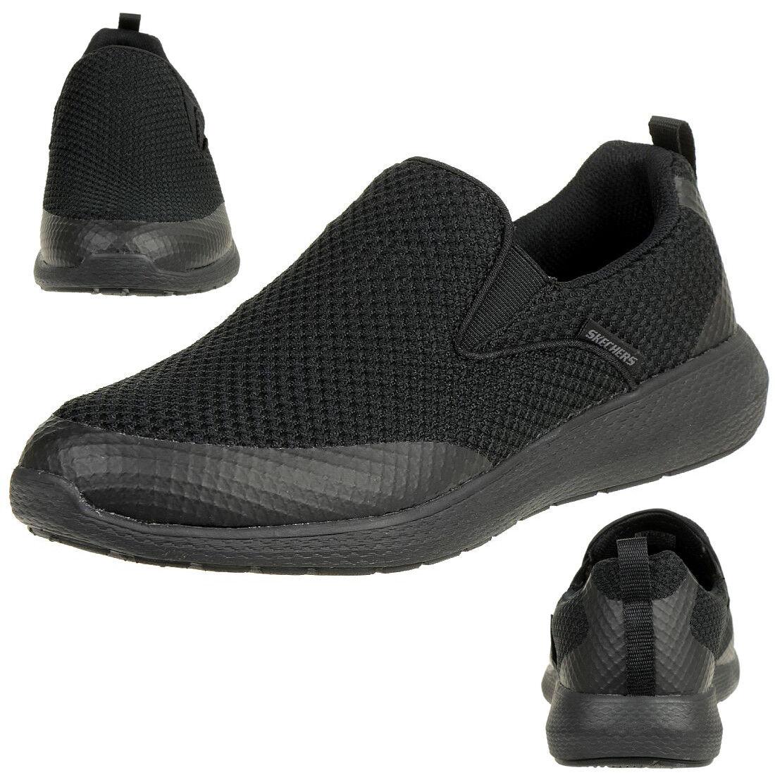 Skechers Kulow blancowater Hombre sin Cordones Mocasines Negro Textil 52885