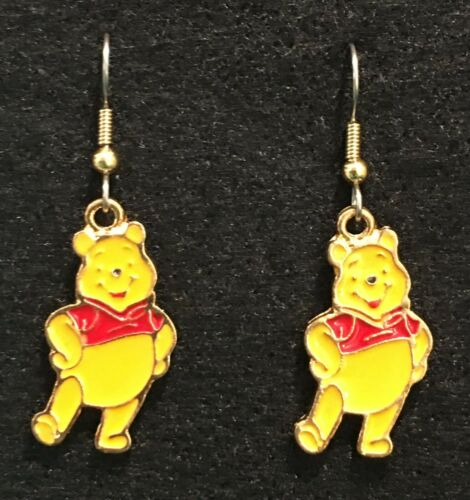 Winnie the Pooh Earrings Disney Bear Surgical New B