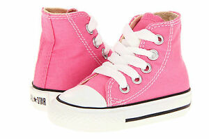 Details about Converse Hi Tops Pink All Sizes Infant Toddler Baby Boys or  Girls Kids Shoes