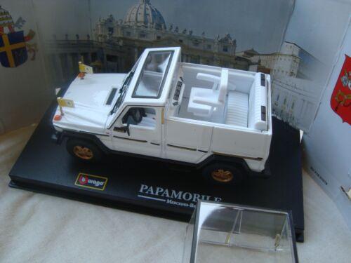 Mercedes Benz 230 Ge Popemobile Bburago 1//43 New Vatican