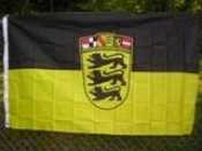 Flag of Baden-Wurttemberg 3x5 ft Germany German State Stuttgart Coat of Arms