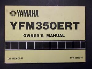 YAMAHA 1987 YFM350ERT YFM350 YFM 350 FACTORY OWNERS MANUAL 27 | eBayeBay