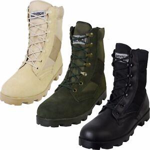 US Army Combat Vietnam Era Jungle Boots Military Panama Sole Speed ... cea2453281f