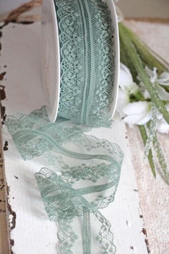 1m punta vintage verde ♔ 40mm 4cm Lace ribete dekoband vintagespitze cenefa