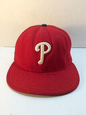 Genuine Merchandise Philadelphia Phillies Fitted Size 7 3//8 Hat Cap Throwback Colors