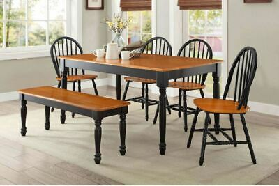 Solid Wood Dining Set Farmhouse Rustic