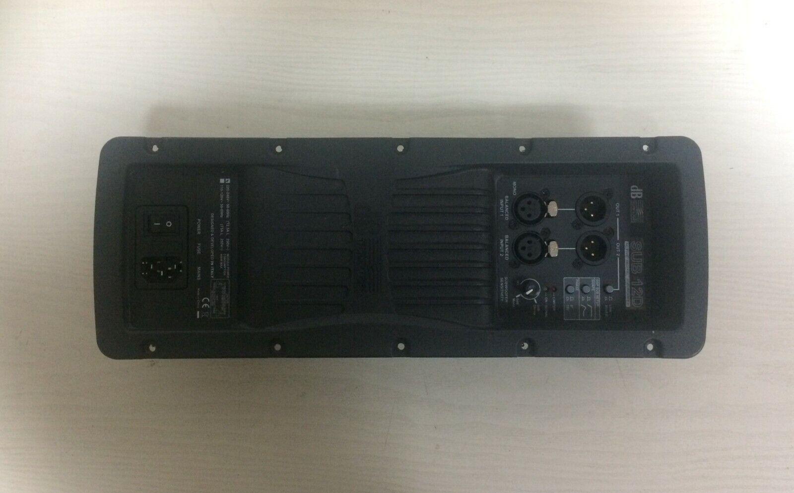 Pannello con modulo amplificatore per dB Technologies Sub 12D