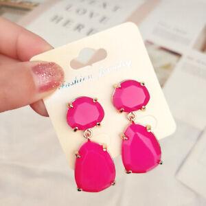 Fashion-Women-Acrylic-Resin-Drop-Dangle-Ear-Studs-Earrings-jewelry-Gift