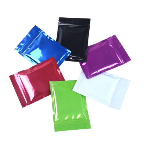 100X Heat Seal Colors Matte Aluminum Foil Bags Mylar Food Storage Vacuum Pouches