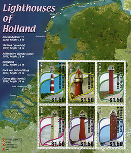 Grenadines-Grenada-2002-MNH-Lighthouses-of-Holland-6v-M-S-Architecture-Stamps