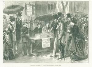 1874-Antique-Print-Hospital-Saturday-Collecting-Box-City-Fund-top-Hats-38