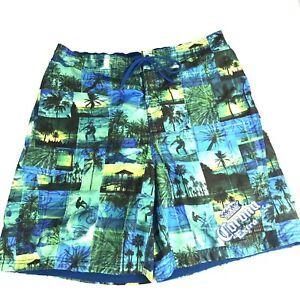 5b1a836489 Corona Mens Swim Trunks Size XXL 2X Blue Yellow Pockets Lining ...