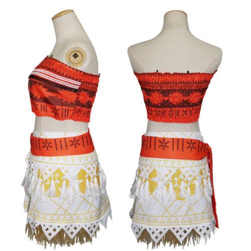 Moana Animie Movie Polynesia Women Girls Princess Cosplay Costume Fancy Dress