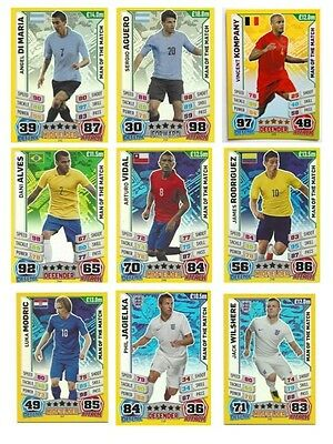 Match Attax Extra 2015 Trading Cards Man of the Match M1-M40