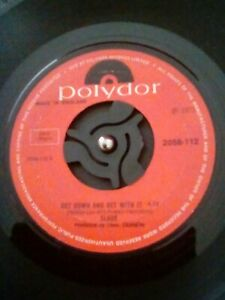 Slade-Get-Down-And-Get-With-It-Vinyl-7-034-Single-UK-Polydor-2058-112-1971