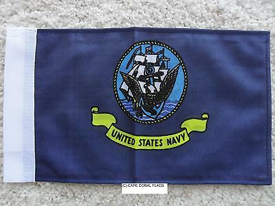 """6/""""X9/"""" U.S ARMY FLAG DOUBLE SIDED KNIT NYLON WITH SLEEVE MOTORCYCLE //CAR"""