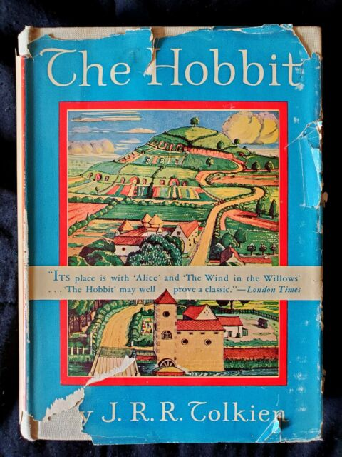 The Hobbit ~ J.R.R. TOLKIEN ~ First American Edition ~ Original Dustjacket 1938