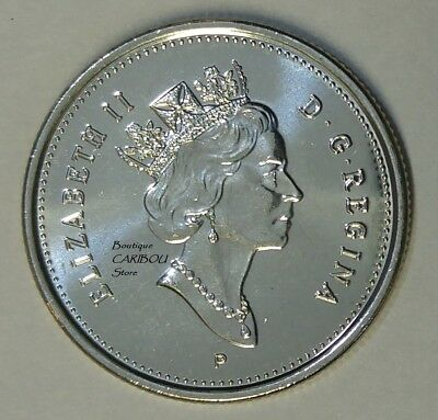 2003P CANADA 25¢ CARIBOU OLD EFFIGY BRILLIANT UNCIRCULATED QUARTER COIN