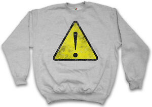 Usa Attenzione Pericolo Segnale Simbolo Warnschild Nerd Logo Hipster di pericolo Pullover qx0YXSP
