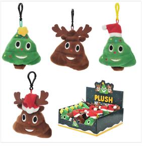 Plush Christmas Themed Emotive Sound Keyring XKEY81-Emoji Keyring Xmas Hat
