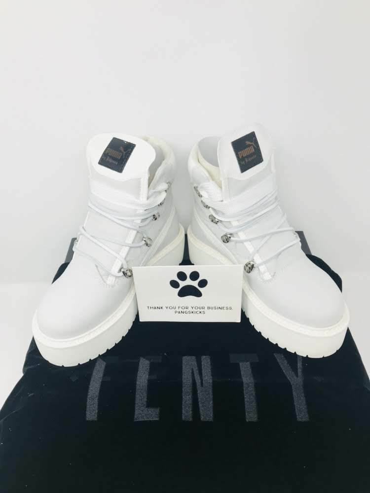 Puma Fenty by Rihanna SB White Boot 363475-01 Size 4-12