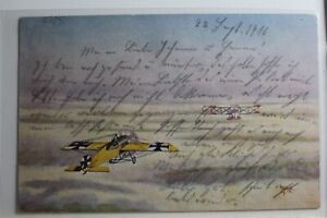 AK-Deutschland-Deutsche-Fliegerkarte-Feldpost-1916-gebraucht-PG773