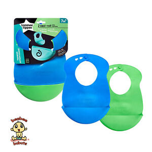 Tommee Tippee Explora Easi Roll Bibs, Pack of 2, Authentic and Brand New