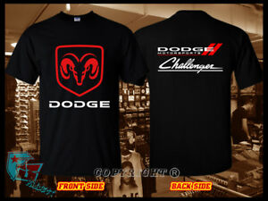 Dodge Motorsport Logo Racing Auto Moto Super Car Black T-Shirt Size S M L 3XL