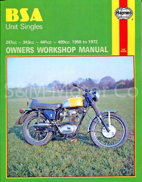 Bsa C15 B25 C25 B40 B44 B50 Haynes Workshop Repair Manual 1958