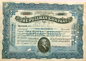 The-Pullman-Company-gt-George-rail-cars-1920s-railroad-related-stock-certificate