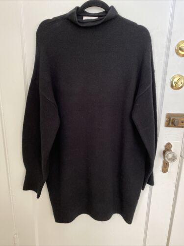 Oak + Fort Black Oversize Sweater S Women